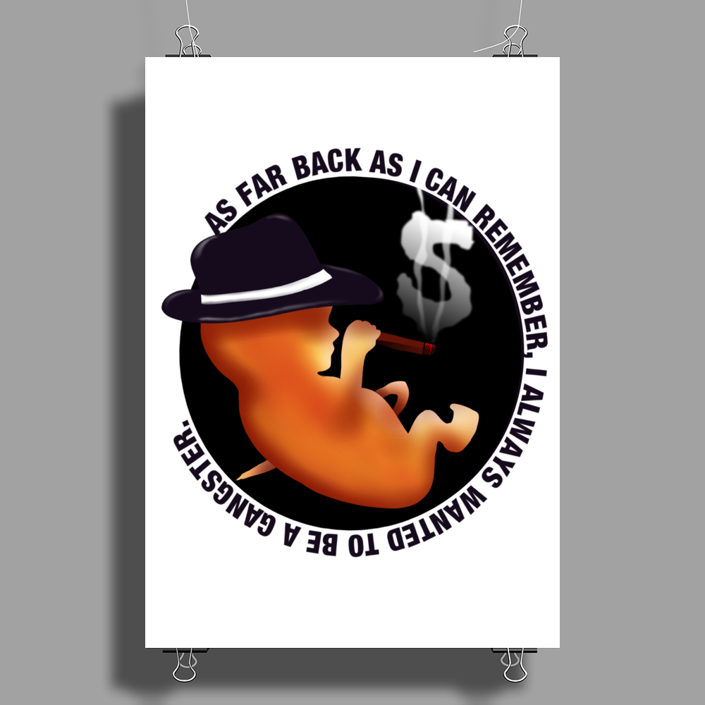 BABY GANGSTER Poster Print (Portrait)