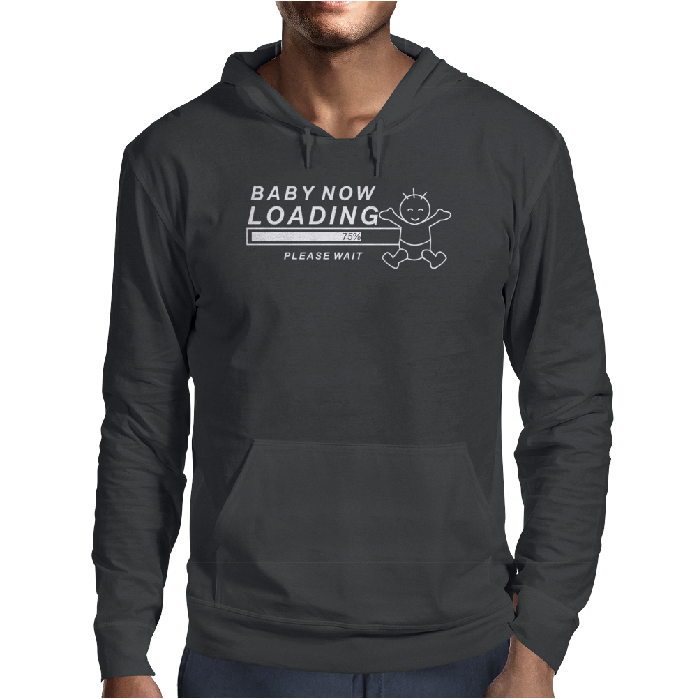 Baby Now Loading Funny Ladies Mens Hoodie