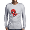 Baby Spider Man Mens Long Sleeve T-Shirt