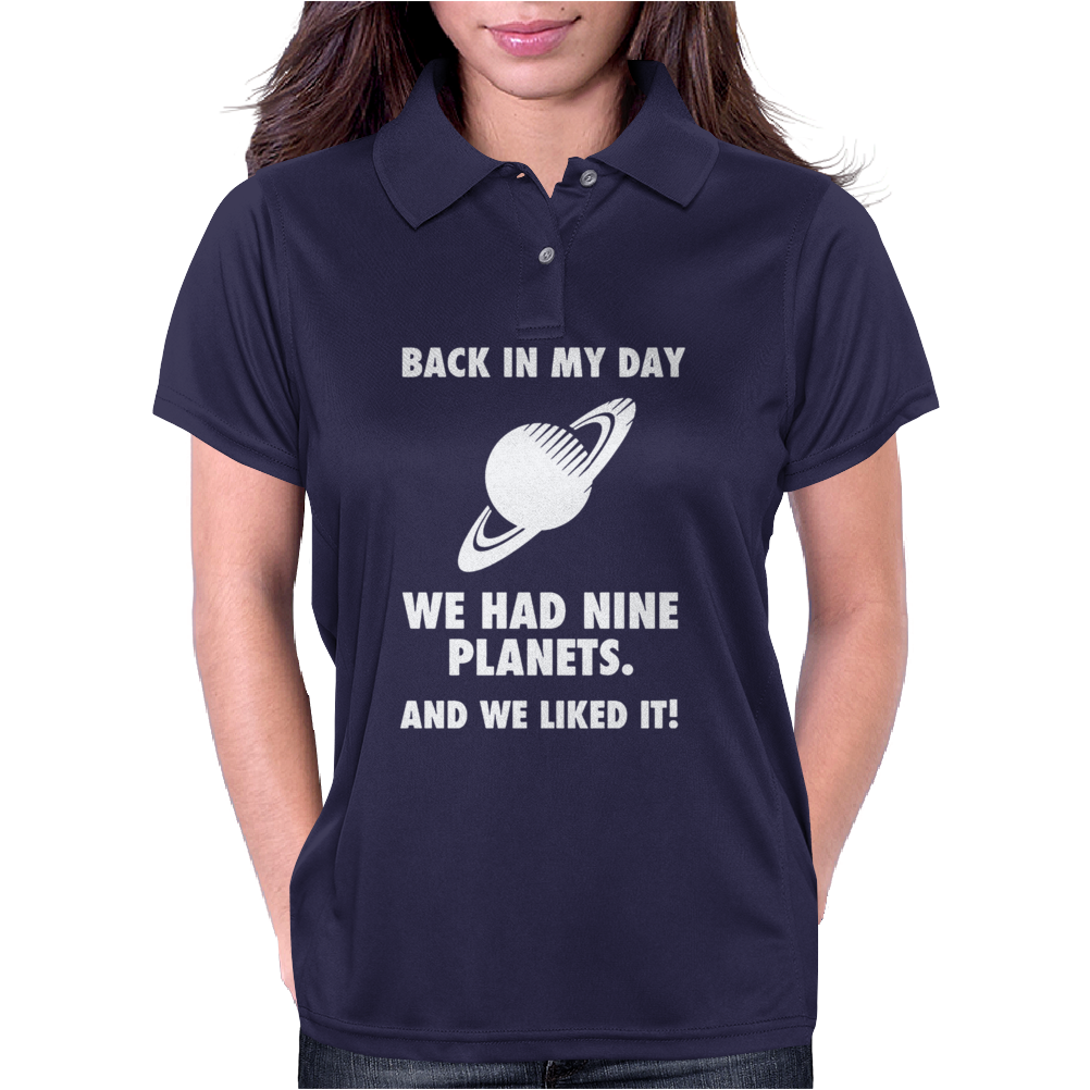Back In My Day We Planets Womens Polo