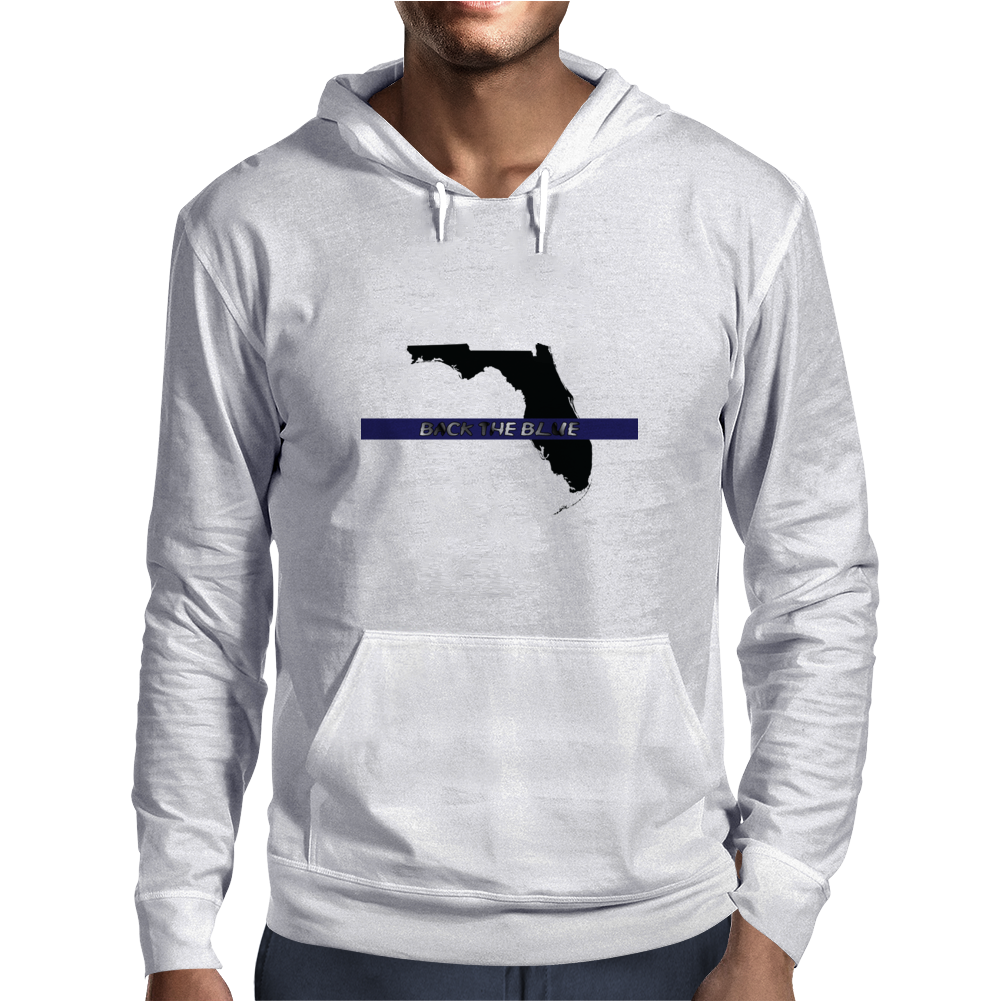 Back the Blue Florida. Mens Hoodie