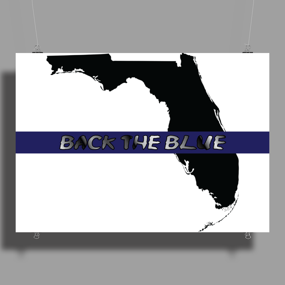 Back the Blue Florida. Poster Print (Landscape)