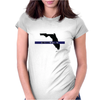 Back the Blue Florida. Womens Fitted T-Shirt