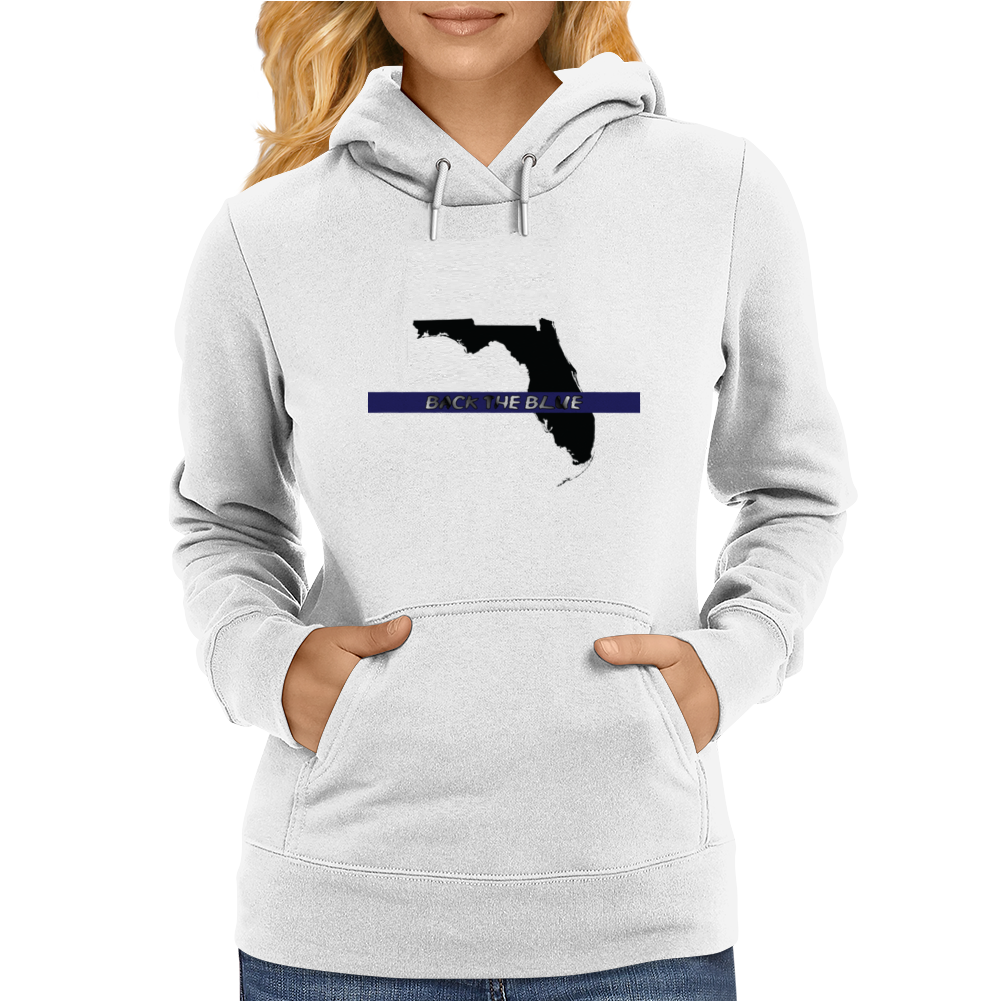 Back the Blue Florida. Womens Hoodie