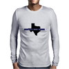 Back the Blue Texas. Mens Long Sleeve T-Shirt