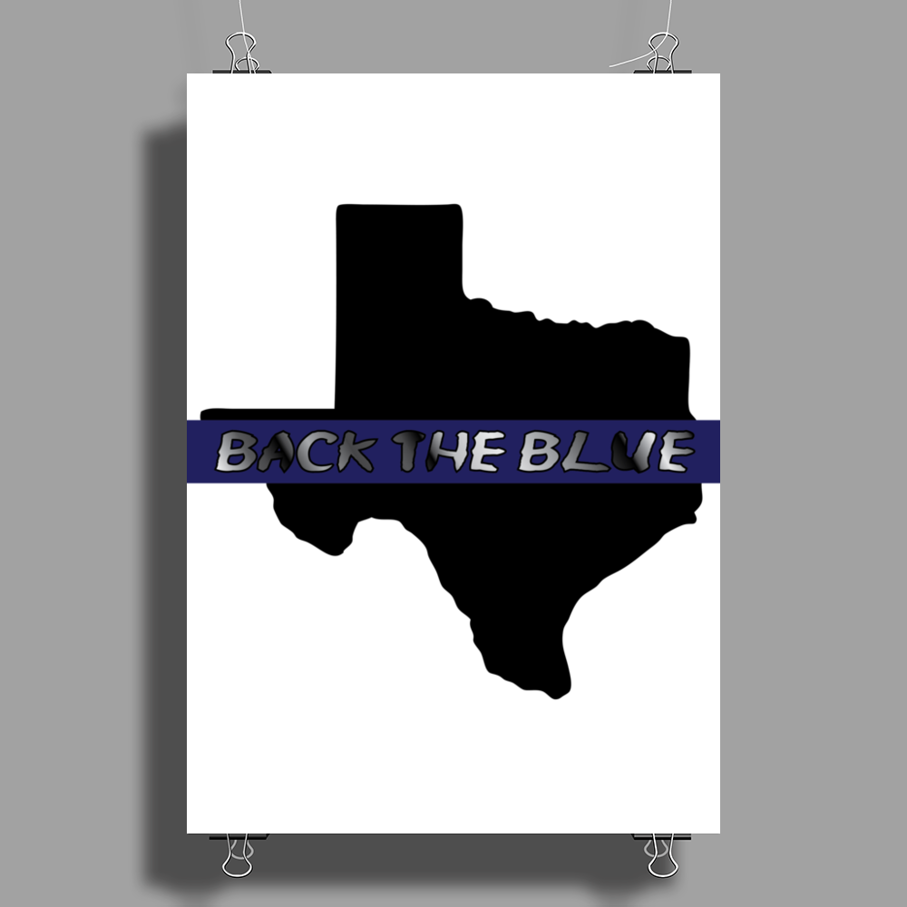 Back the Blue Texas. Poster Print (Portrait)