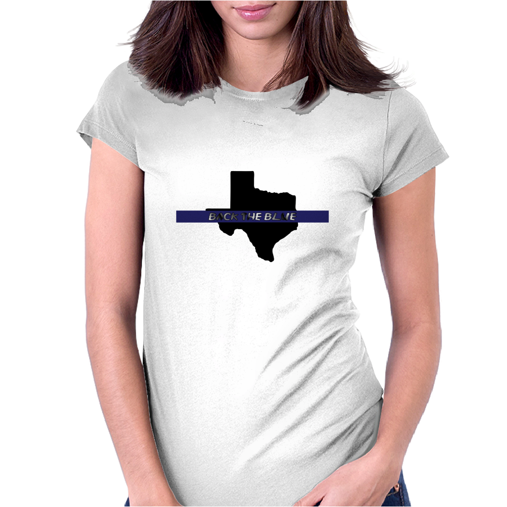 Back the Blue Texas. Womens Fitted T-Shirt