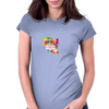 Back to school, looking cool, girly flowers, butterfly Womens Fitted T-Shirt