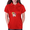 Back to school, looking cool, girly flowers, butterfly Womens Polo