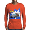 Back To The Future Futurama Dolorian Mens Long Sleeve T-Shirt