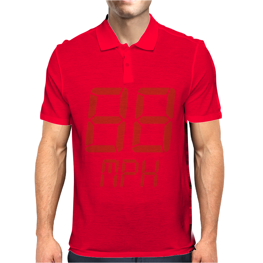 Back to the future movie inspired tshirt Mens Polo