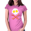 Bacon & and Eggs skull Womens Fitted T-Shirt