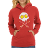 Bacon & and Eggs skull Womens Hoodie