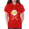 Bacon & and Eggs skull Womens Polo
