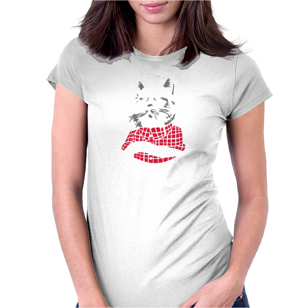 Bad Cat - Gatos Locos Womens Fitted T-Shirt