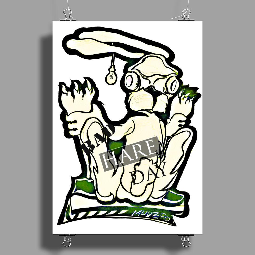 bad hare day Poster Print (Portrait)