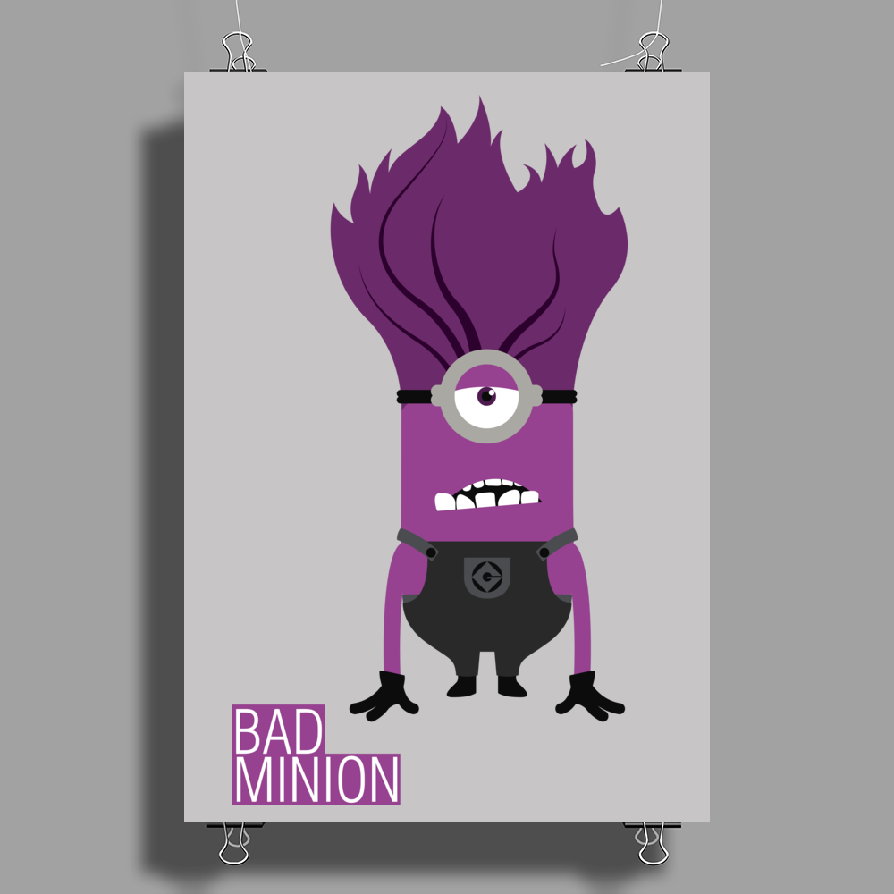 Bad Minion Poster Print (Portrait)