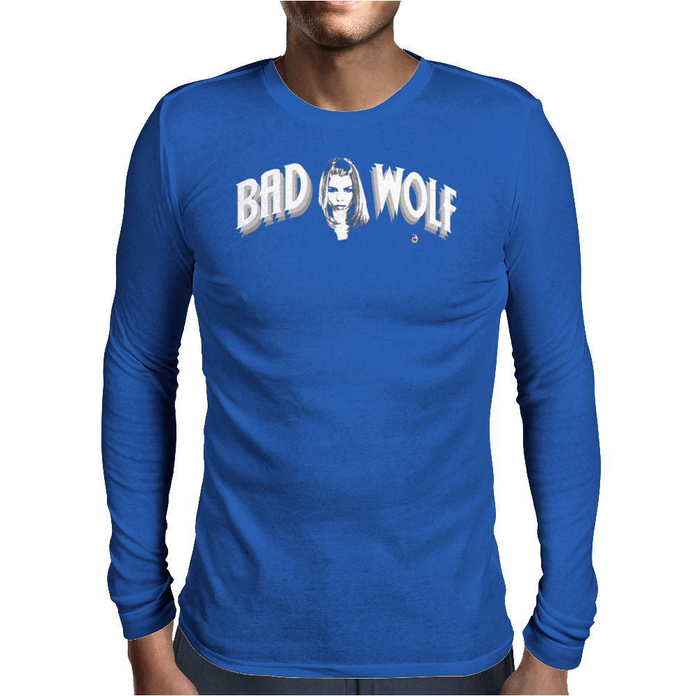BAD WOLF ROSE TYLER Mens Long Sleeve T-Shirt