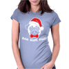 Bah Hum Pug Scrooge Grinch Christmas Womens Fitted T-Shirt