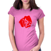 bald hand Womens Fitted T-Shirt