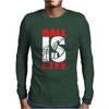 BALL IS LIFE FUNNY SPORTS Mens Long Sleeve T-Shirt