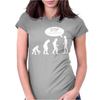 Banksy Funny Human Evolution Indie Womens Fitted T-Shirt