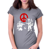Banksy Peace Womens Fitted T-Shirt