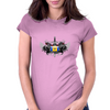 Barbados Island Crest T-shirt Womens Fitted T-Shirt