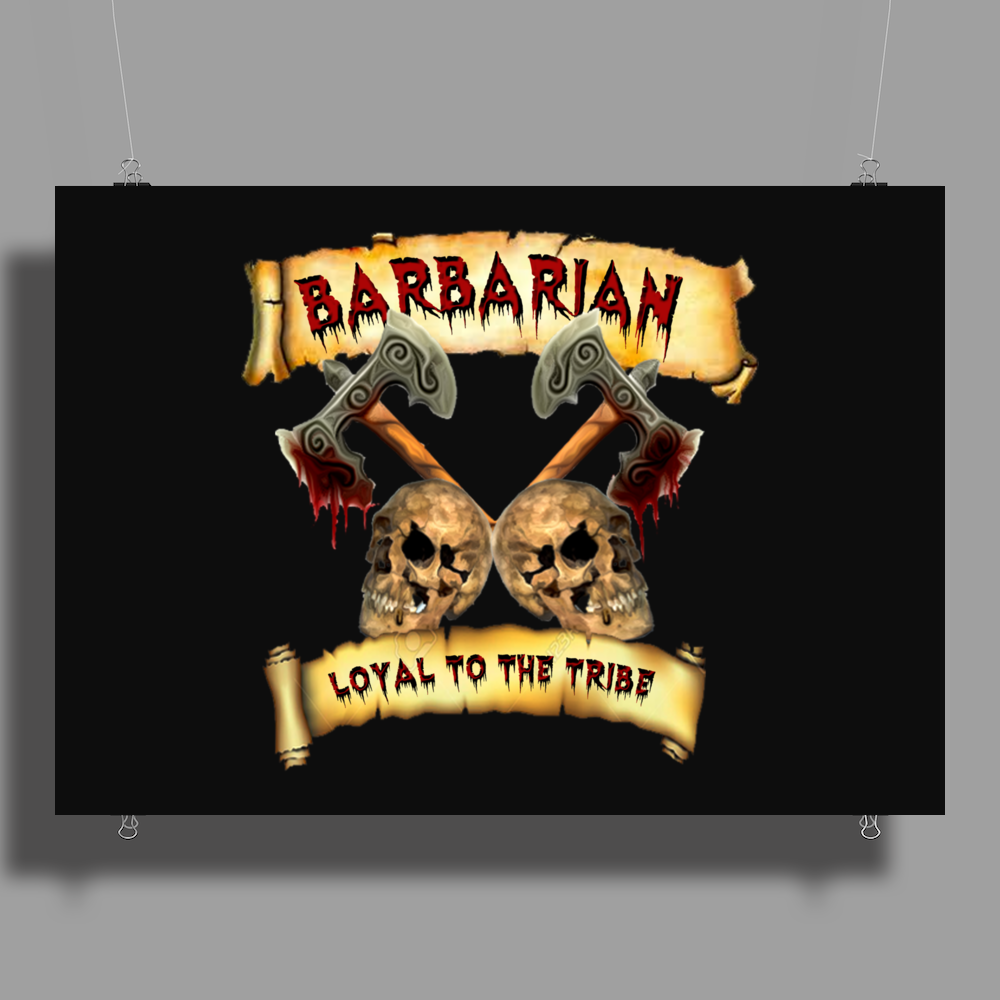 Barbarian    Loyal to the Tribe Poster Print (Landscape)