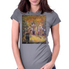 Barcelona on a rainy night Womens Fitted T-Shirt