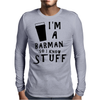 Barmen know stuff - blk Mens Long Sleeve T-Shirt