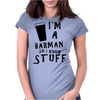 Barmen know stuff - blk Womens Fitted T-Shirt