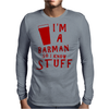 Barmen know stuff - red Mens Long Sleeve T-Shirt