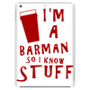 Barmen know stuff - red Tablet