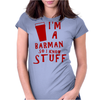 Barmen know stuff - red Womens Fitted T-Shirt