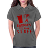Barmen know stuff - red Womens Polo