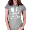 Barmen know stuff - wht Womens Fitted T-Shirt
