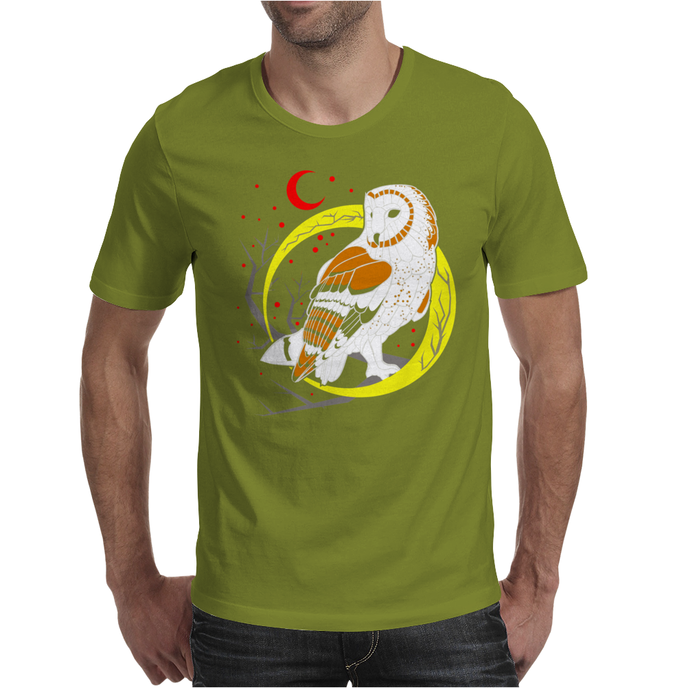 Barn Owl Mens T-Shirt