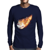Baseball Flames Mens Long Sleeve T-Shirt