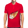 Baseball Flames Mens Polo