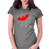 Bat vs Spider Womens Fitted T-Shirt