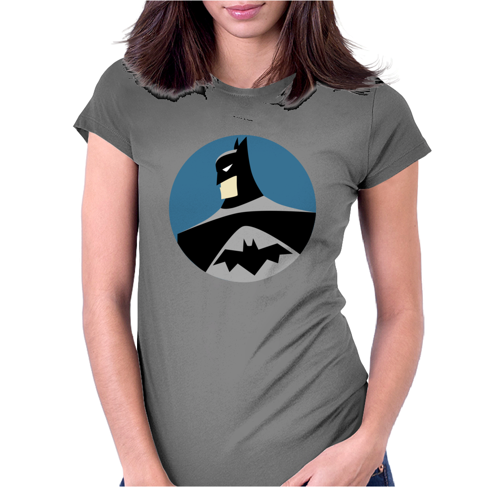 Batman Round Womens Fitted T-Shirt