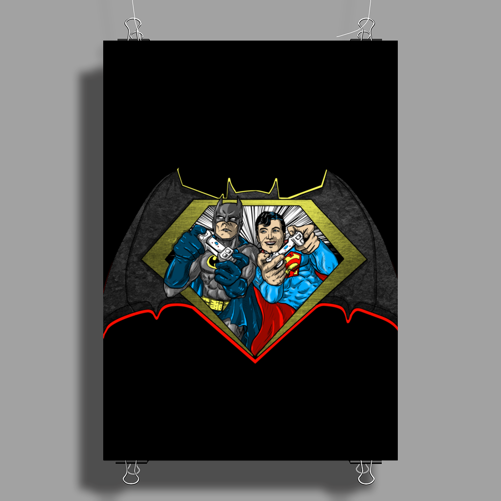 Batman vs Superman PWNED Poster Print (Portrait)