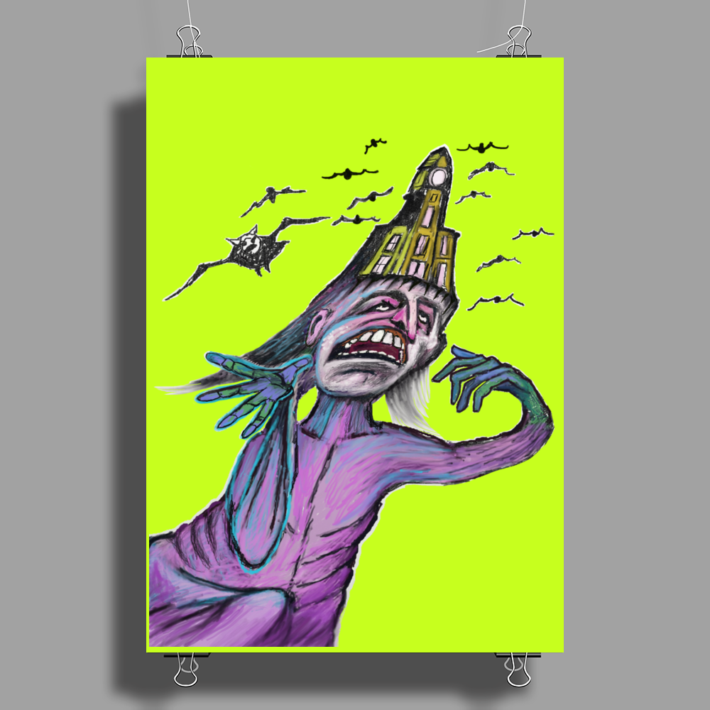 Bats In The Bellfry  ts Poster Print (Portrait)