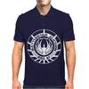Battlestar Galactica Distressed Badge Mens Polo