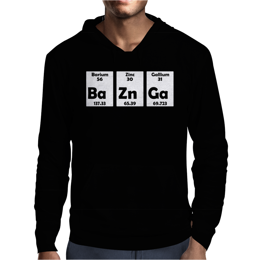 Bazinga BaZnGa Periodic Table Mens Hoodie