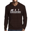 Be Nice to Fat People Bear Chase Funny Pub Joke Mens Hoodie