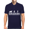 Be Nice to Fat People Bear Chase Funny Pub Joke Mens Polo