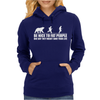 Be Nice to Fat People Bear Chase Funny Pub Joke Womens Hoodie