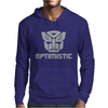 Be optimistic transformers - robot optimus prime movie autobots show tee Mens Hoodie